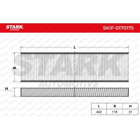 Filtre, air de l'habitacle SKIF-0170175 acheter - 24/7!