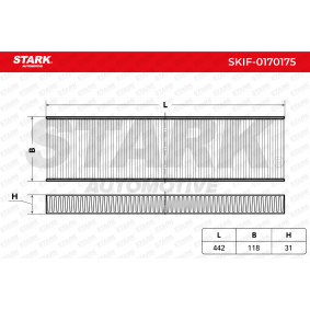 Filter vnútorného priestoru SKIF-0170175 kúpiť - 24/7