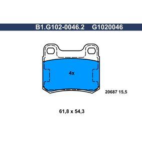 комплект спирачно феродо, дискови спирачки B1.G102-0046.2 с добро GALFER съотношение цена-качество