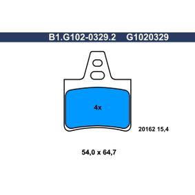 Compre e substitua Jogo de pastilhas para travão de disco GALFER B1.G102-0329.2