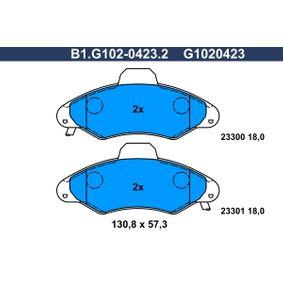 Compre e substitua Jogo de pastilhas para travão de disco GALFER B1.G102-0423.2