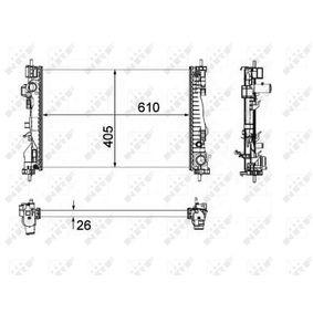 Radiatore, Raffreddamento motore 58492 con un ottimo rapporto NRF qualità/prezzo