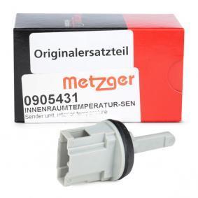 METZGER Sensor, Innenraumtemperatur 0905431 rund um die Uhr online kaufen