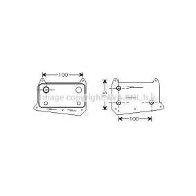PRASCO Radiatore olio, Olio motore MSA3376 acquista online 24/7