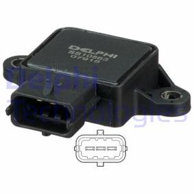 buy DELPHI Sensor, throttle position SS10563-12B1 at any time