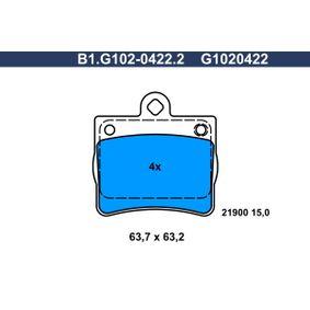 комплект спирачно феродо, дискови спирачки B1.G102-0422.2 с добро GALFER съотношение цена-качество