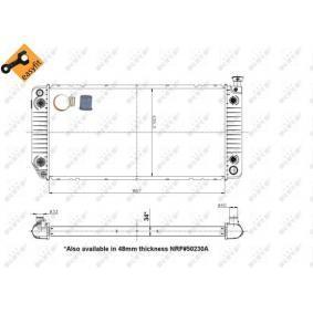 Radiatore, Raffreddamento motore NRF 50230A comprare e sostituisci