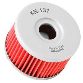 Filtre à huile KN-137 K&N Filters Paiement sécurisé — seulement des pièces neuves