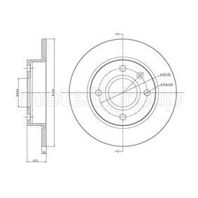 Disco de travão 23-0168 METELLI Pagamento seguro — apenas peças novas