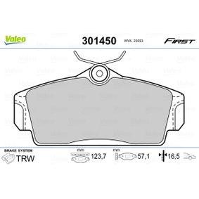 комплект спирачно феродо, дискови спирачки 301450 с добро VALEO съотношение цена-качество