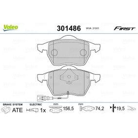 Kit pastiglie freno, Freno a disco 301486 per VW NEW BEETLE a prezzo basso — acquista ora!