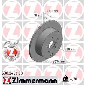 Brake Disc 530.2466.20 ZIMMERMANN Secure payment — only new parts