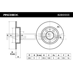 82B0003 Brake Disc RIDEX - Huge selection — heavily reduced