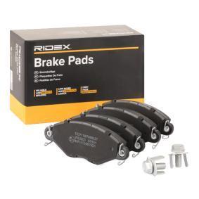 Jogo de pastilhas para travão de disco 402B0066 com uma excecional RIDEX relação preço-desempenho