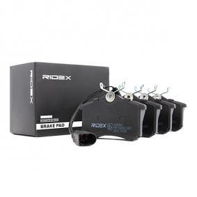 комплект спирачно феродо, дискови спирачки 402B0067 с добро RIDEX съотношение цена-качество