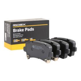 комплект спирачно феродо, дискови спирачки RIDEX 402B0298 купете и заменете