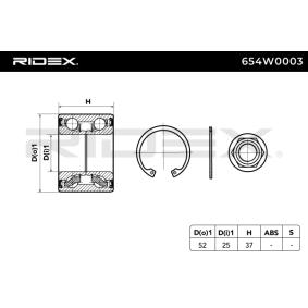 RIDEX Hjullagerssats 654W0003 köp lågt pris