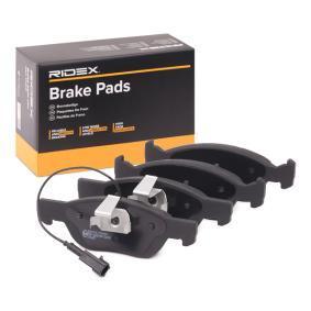 Jogo de pastilhas para travão de disco 402B0122 com uma excecional RIDEX relação preço-desempenho