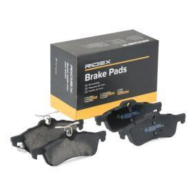 комплект спирачно феродо, дискови спирачки 402B0275 с добро RIDEX съотношение цена-качество