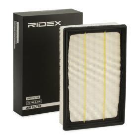 pirkite RIDEX oro filtras 8A0102 bet kokiu laiku