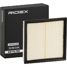 Filtro aria RIDEX 8A0100 comprare e sostituisci