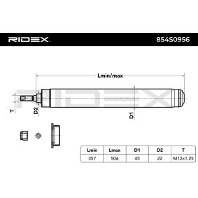 Ammortizzatore 854S0956 con un ottimo rapporto RIDEX qualità/prezzo