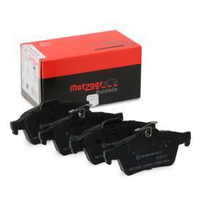 комплект спирачно феродо, дискови спирачки METZGER 1170006 купете и заменете