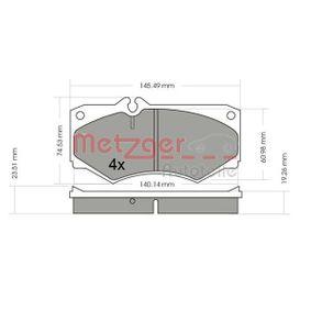 комплект спирачно феродо, дискови спирачки 1170351 с добро METZGER съотношение цена-качество