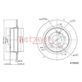 Bremsscheibe von METZGER - Artikelnummer: 6110039