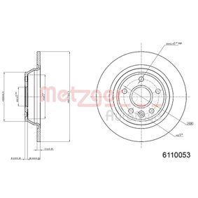 Bremsscheibe von METZGER - Artikelnummer: 6110053