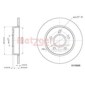 Disco freno 6110088 con un ottimo rapporto METZGER qualità/prezzo