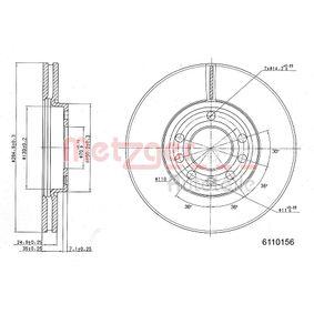 Disco freno METZGER 6110156 comprare e sostituisci