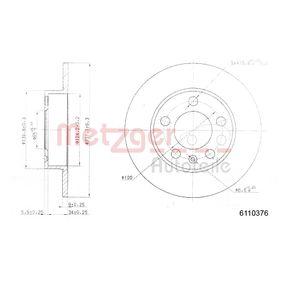 Bremsscheibe von METZGER - Artikelnummer: 6110376