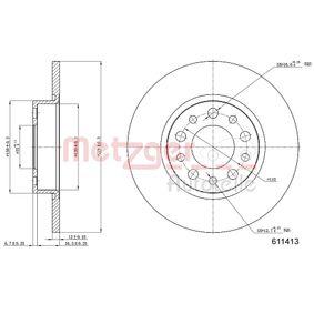 Disco freno 6110413 con un ottimo rapporto METZGER qualità/prezzo