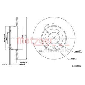 Disco freno 6110585 con un ottimo rapporto METZGER qualità/prezzo