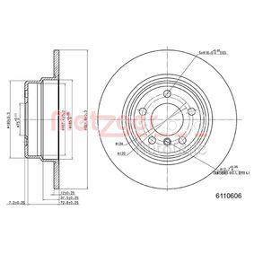 Disco freno 6110606 con un ottimo rapporto METZGER qualità/prezzo