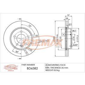 спирачен диск BD-6382 за VW AMAROK на ниска цена — купете сега!
