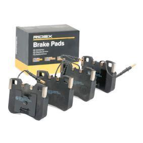Jogo de pastilhas para travão de disco 402B0388 com uma excecional RIDEX relação preço-desempenho