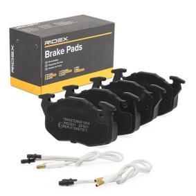 Jogo de pastilhas para travão de disco 402B0903 com uma excecional RIDEX relação preço-desempenho