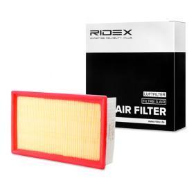 Kupte a vyměňte Vzduchový filtr RIDEX 8A0353