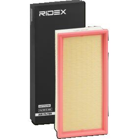pirkite RIDEX oro filtras 8A0240 bet kokiu laiku