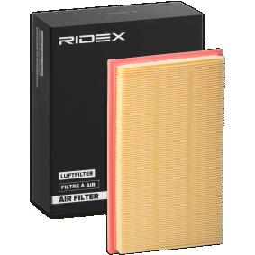 pirkite RIDEX oro filtras 8A0489 bet kokiu laiku