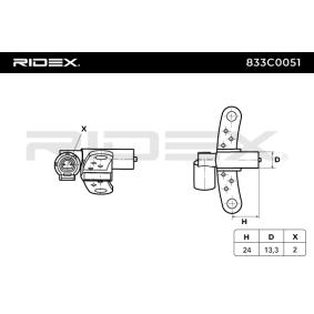 acheter RIDEX Générateur d'impulsions, vilebrequin 833C0051 à tout moment