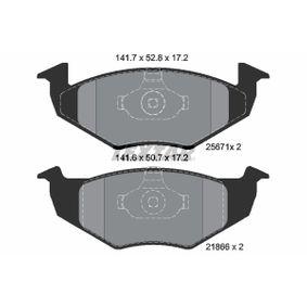 комплект спирачно феродо, дискови спирачки 2567101 за VW SAVEIRO на ниска цена — купете сега!