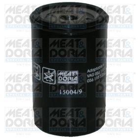 Filtro de óleo 15004/9 com uma excecional MEAT & DORIA relação preço-desempenho
