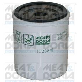 Filtro de óleo 15238/8 com uma excecional MEAT & DORIA relação preço-desempenho