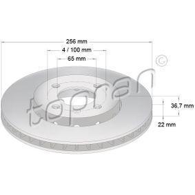 Bremsscheibe von TOPRAN - Artikelnummer: 115 930
