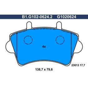 Kit pastiglie freno, Freno a disco B1.G102-0624.2 per NISSAN INTERSTAR a prezzo basso — acquista ora!