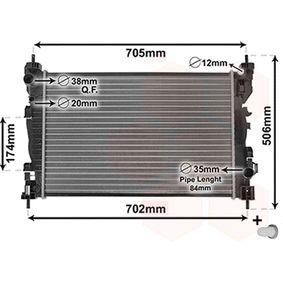 Radiatore, Raffreddamento motore 01002119 con un ottimo rapporto VAN WEZEL qualità/prezzo