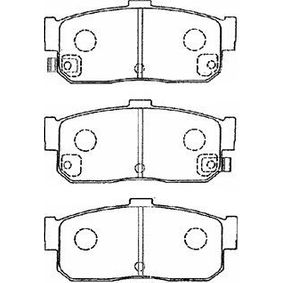 комплект спирачно феродо, дискови спирачки B2N022 с добро AISIN съотношение цена-качество